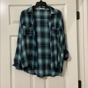 Loose fitting flannel